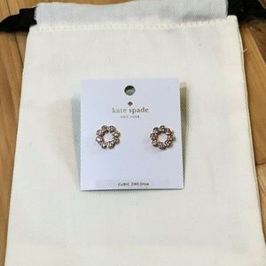 Kate Spade Full Circle Studs Rose Gold Earrings